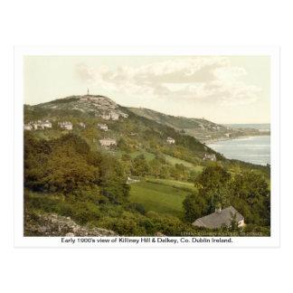 Vintage Ireland Killiney Hill Dalkey Post Card