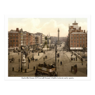 Vintage Ireland postcard Sackville Street Dublin Postcard