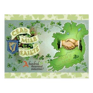Vintage Ireland St. Patrick's Day Postcard