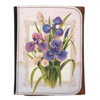 Vintage Irises Mother's Day Spring Chic Wallets