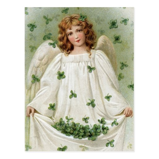 Vintage Irish Angel Postcard