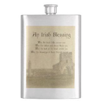 Vintage Irish Blessing Hip Flask