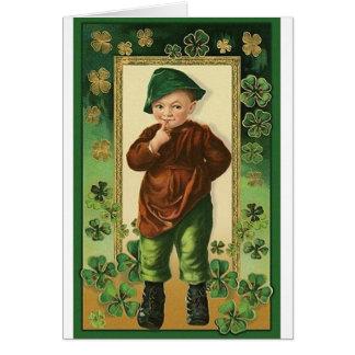 Vintage Irish Boy St. Patrick's Day Card