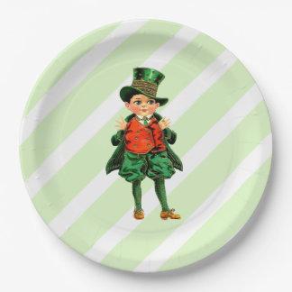 Vintage Irish Boy. St.Patrick's Day Paper Plates