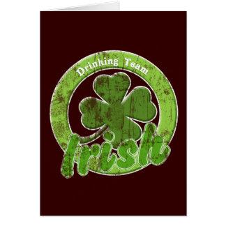 Vintage Irish Drinking Team Greeting Card