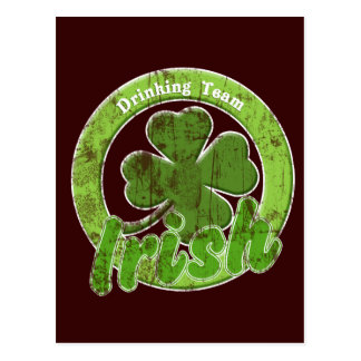 Vintage Irish Drinking Team Postcard