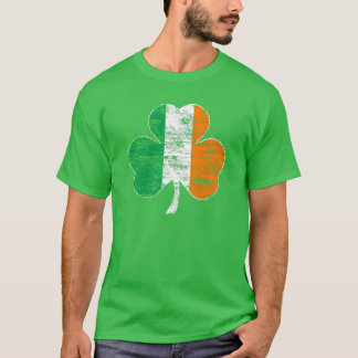 Vintage Irish Flag Shamrock (Distressed) T-shirt