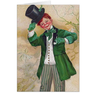 vintage irish gentleman greeting card