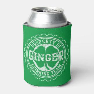 Vintage Irish Ginger Drinking Team Can Cooler
