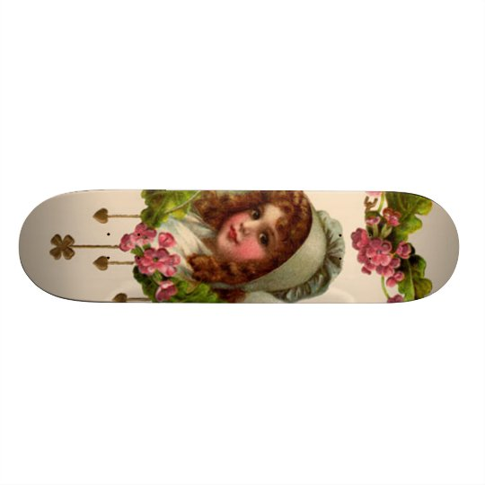 Vintage Irish Girl Custom Skate Board