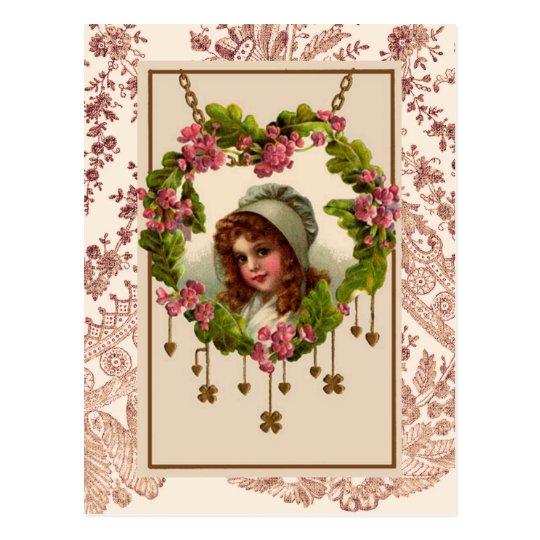 Vintage Irish Girl Postcard