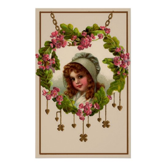 Vintage Irish Girl Poster