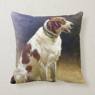 Vintage Irish Setter Painting Cushion