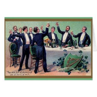 Vintage Irish Toast St. Patrick's Day Card