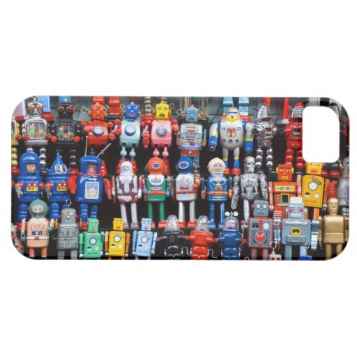 Vintage iron tin toy robot collection iPhone 5 cases