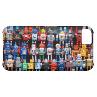 Vintage iron tin toy robot collection iPhone 5C case