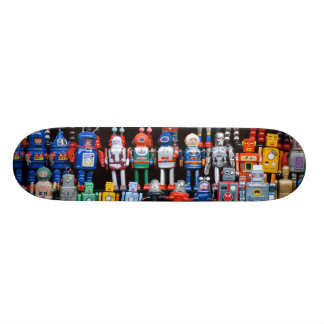 Vintage iron tin toy robot collection skateboard