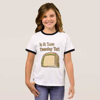 Vintage Is It Taco Tuesday Yet Ringer T-Shirt