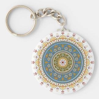 Vintage Islamic Pattern Design Basic Round Button Key Ring