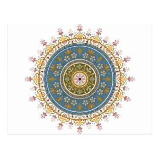 Vintage Islamic Pattern Design Postcard