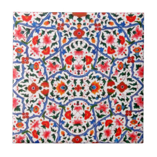 Vintage Islamic Pattern Design Small Square Tile