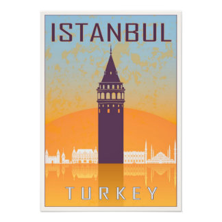 Vintage Istanbul poster Photo Print