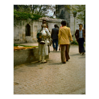 Vintage  Istanbul, Turkish coffee seller Poster
