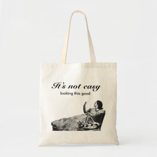 "Vintage  ""It's not easy"" Budget Tote Bag"