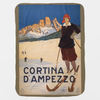 Vintage Italian Alps Italy baby blanket