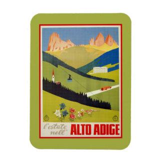 Vintage Italian Alps (South Tyrol) travel Rectangular Photo Magnet