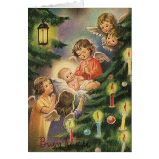 Vintage Italian Baby Jesus Christmas Card