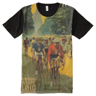 Vintage Italian Bicycle Ad All-Over Print T-Shirt