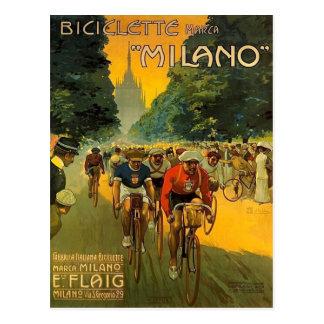 Vintage Italian Bicycle Ad Postcard
