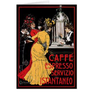 Vintage Italian Coffee espresso advertisement Card