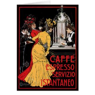 Vintage Italian Coffee espresso advertisement Greeting Card