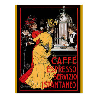 Vintage Italian Coffee espresso advertisement Postcard