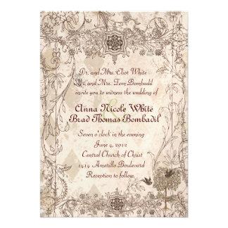 Vintage Italian Faded Pink Wedding Invitation
