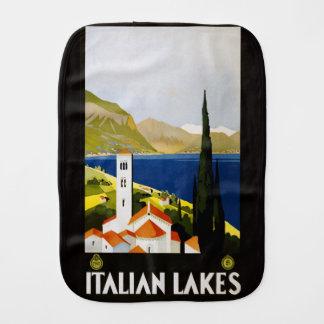 Vintage Italian Lakes Italy burp cloth