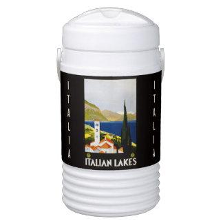 Vintage Italian Lakes Italy custom beverage cooler