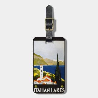 Vintage Italian Lakes Italy custom luggage tag