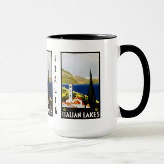 Vintage Italian Lakes Italy custom mugs