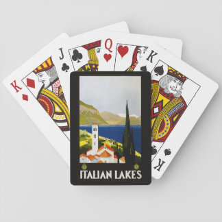 Vintage Italian Lakes playing cards