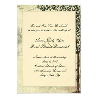 Vintage Italian Myrtle Tree Wedding Invitation