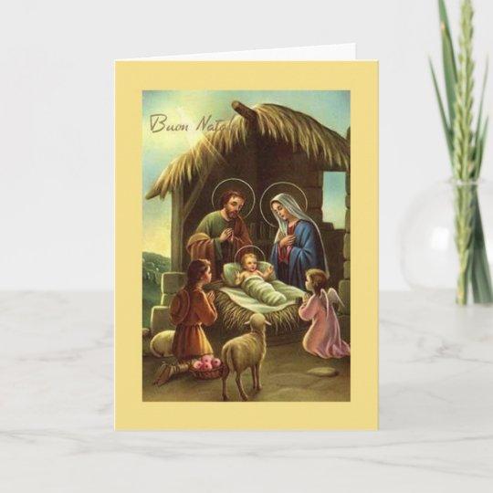 Religious Christmas Cards Uk.Vintage Italian Nativity Religious Christmas Card