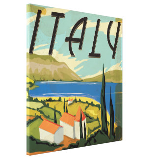 Vintage Italian Poster Canvas Print