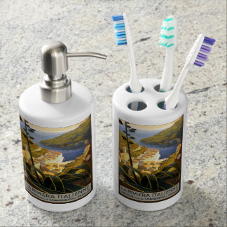 Vintage Italian Riviera bathroom set