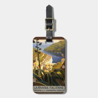 Vintage Italian Riviera Italy custom luggage tag