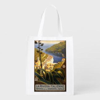 Vintage Italian Riviera Italy reusable bag