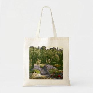 Vintage Italian Rose Garden Canvas Bag