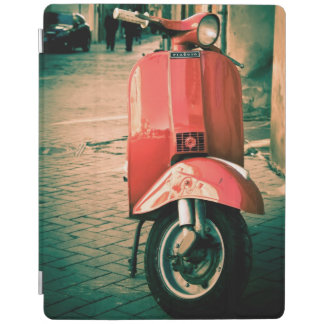 Vintage Italian Scooter | Red scooter iPad Cover